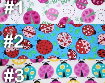 """Lady Bug love bug Extra Large Receiving Blanket - 36"""" x 42"""""""