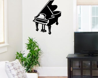 Baby Grand Piano - Music Wall Decals