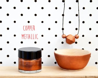 Wood Paint  - Copper Metallic- 15ml jar - 10 Beautiful Colours Available.