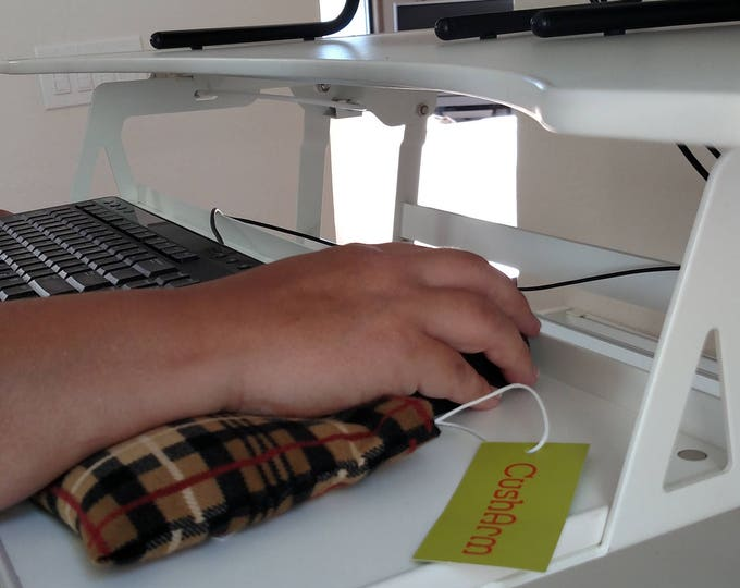 CushArm mini Computer Wrist Support, perfect for a stand up desk, Comfort and Support