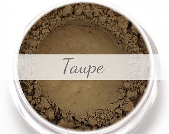 Taupe Eyebrow Powder Sample- Vegan Mineral Eye Brow Powder Net Wt .4g Mineral Makeup Pigment