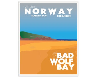 Doctor Who Bad Wolf Bay Print