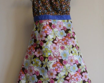 Women's Full Apron Floral Explosion Sundress Style CLEARANCE