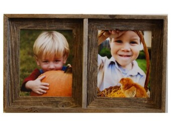 Barnwood Collage Frame with 2 Openings