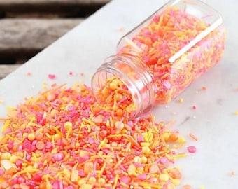 Sprinklefetti Summer Sunrise Sprinkles Mix, Summer Sprinkles, Edible Sprinkles, Cake Sprinkles, Cupcake Sprinkles, Sprinkle Blends