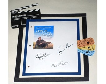 Dances with Wolves Movie Script Signed Screenplay Autographed: Kevin Costner, Mary McDonnell, Rodney A. Grant