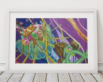 Colorful Wall Art, Street Art, Graffiti Art, Urban Landscape Photography, Street Art, Contemporary Wall Art, Urban Art, Fine Art Print,