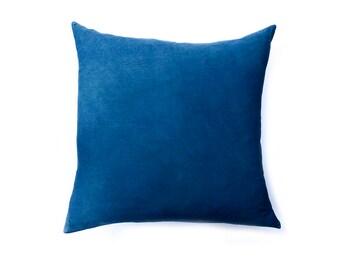 Euro Sham, Pillow, Indigo Blue Navy bedding, Cotton Sateen, Sham, Block Printed, Handmade, For the home, housewarming gift, Bed Linens
