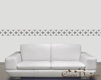Border Vinyl Wall Decal 14 ft long, home decor , removable wallpaper decal border