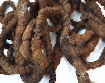 Brown Wool Rope, Felt Wool Rope, Felt Cord, Felting Supplies, Felting Wool, Wet Felting