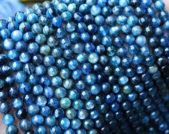 blue kyanite, authentic kyanite, gemstone beads, boho beads, 5 - 6mm beads,