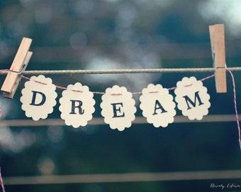 typography, dream, clothesline, fine art photography