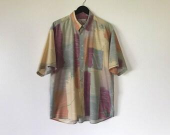 Men's Collection H,ENRICO Cotton Shirt Men's summer Shirt Men Button up Shirt Short Sleeve Shirt Plaid Dress Up Shirt Work Shirt XL Size