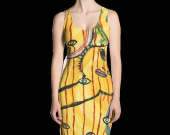 Passing Through print dress. Get 2 looks in 1!