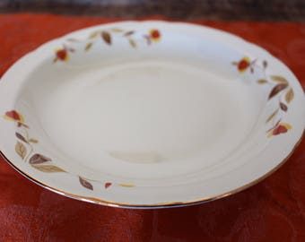 Jewel Tea Autumn Leaf 8-1/2\  Flat Rim Coupe Soup Bowl & Jewel tea autumn leaf   Etsy