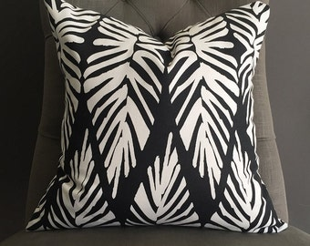 SALE - Pillow Cover, Black and White Pillow, LUCY