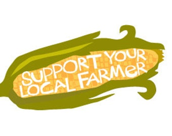 Support your local farmer bumper sticker ear of corn die cut decal