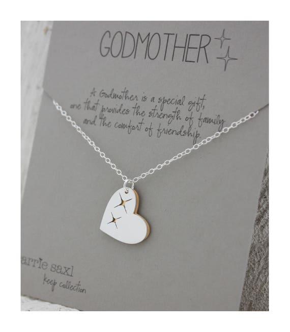 Godmother necklace godmother gift baptism gift aloadofball Gallery