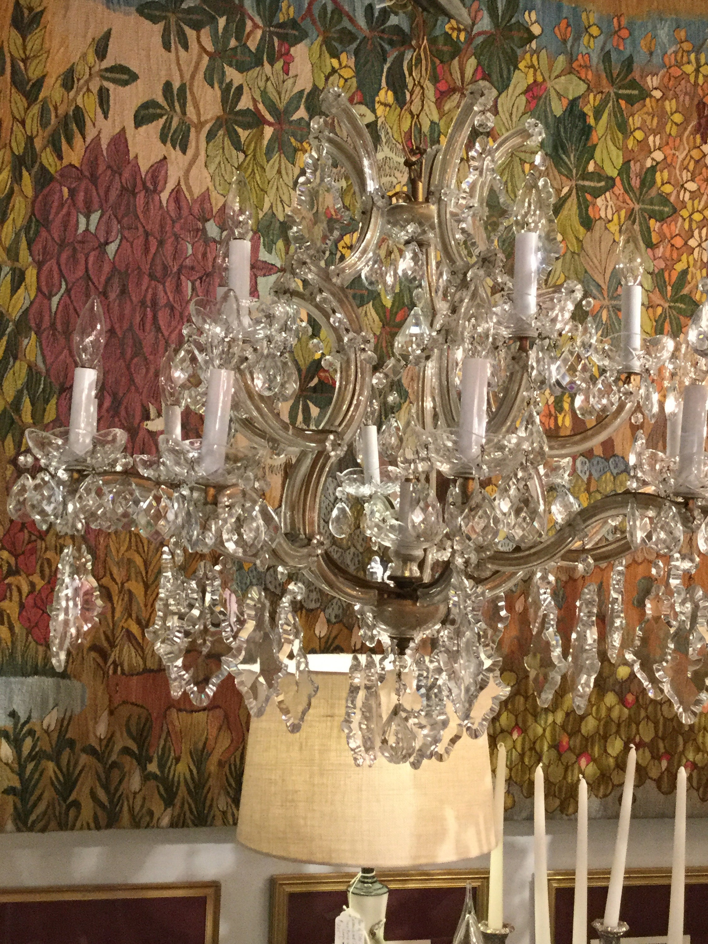 Ca 1900s monumental maria therese italian chandelier 16 light 1900s monumental maria therese italian chandelier 16 light bobeche with crystals aloadofball Images