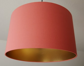 "Lampshade ""Coral-gold"" (coral)"
