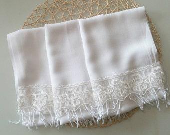 bridesmaid shawl, wedding, scarf, White, wedding gift, wedding shawl, gift for bridesmaid, bridesmaid scarf, pashmina scarf, lace scarf