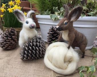 Needle Felt Wool Rabbit