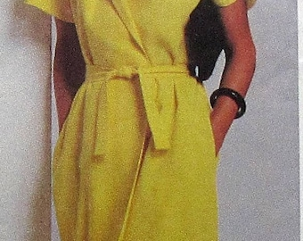 Wrap Dress Sewing Pattern UNCUT Simplicity 9331 Size 12