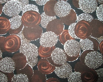Chocolate Candy Sno Caps Swirls Sweets Brown Cotton Fabric Fat Quarter or Custom Listing
