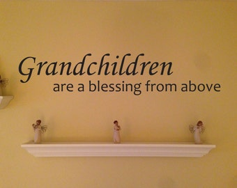 Grandchildren Wall Decal, Gift for Grandparent. Home Wall Decal