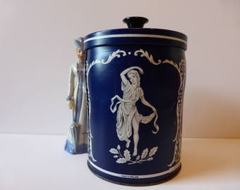Jasperware Huntley and Palmer biscuit tin