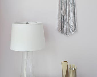 lush modern boho dream catcher with alpaca yarns, wool, beads, sueded cord and gold wire wrapped tassels// wall hanging,teen room, nursery
