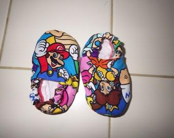 Nintendo crib shoes