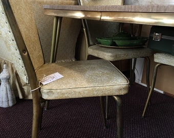 Retro table chair set mid century vintage kitchen apartment size