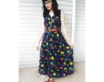 Flowers and Berries Day Dress