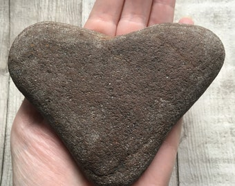 Large Natural Beach Pebble Heart