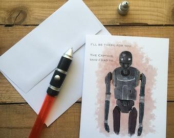K2-SO Blank Notecards - Star Wars notecards - Rogue One notecards