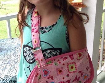 Child sling-sling-Pink Sling-broken arm sling-girl sling-Pink sling