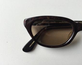 Vintage 50s Brown Ladies Frame Sunglasses