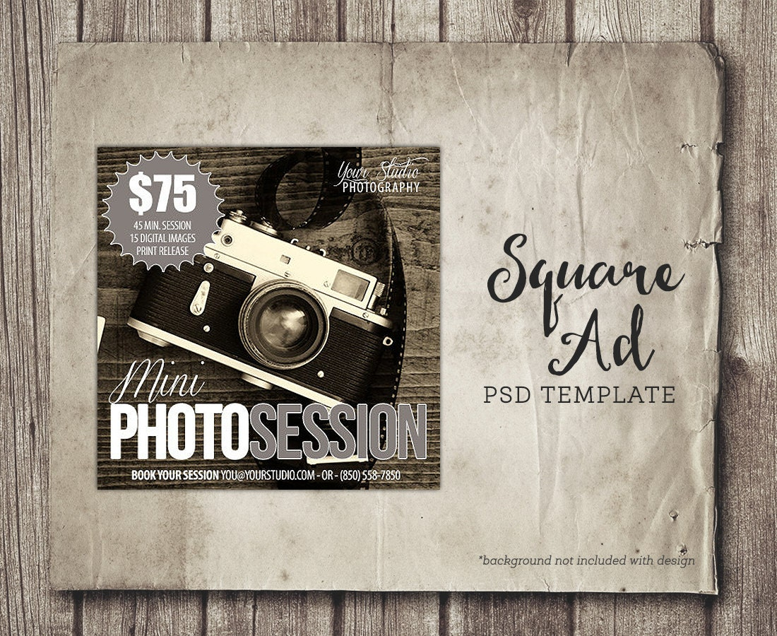 Facebook Ad Template Photography Social Media Ad Facebook - Photography ad template