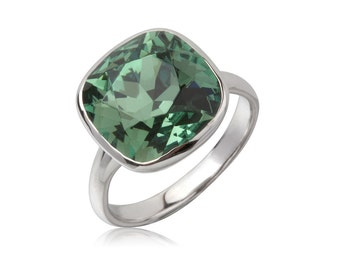 Erinite Cushion 12mm Ring