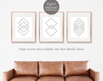 Geometric wall art / Avant garde / Printable art sets / Printable decor ideas / Wall decor sets / Abstraction / DIGITAL DOWNLOAD