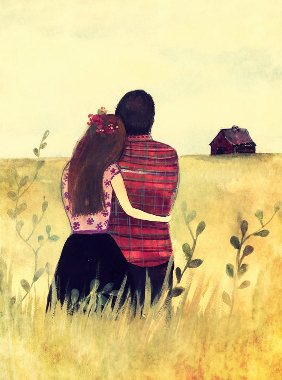 Lovers in the field