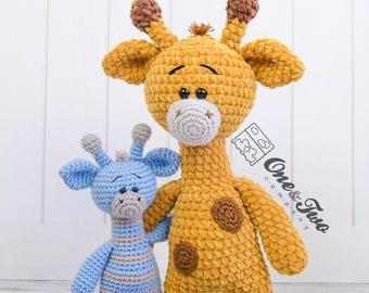 Gladys the Giraffe Amigurumi - PDF Crochet Pattern - Instant Download - Amigurumi crochet Cuddy Stuff Plush