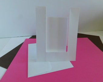 DIY A2 Inverted Step Card Paper Die Cut Card Making, Create your own A2 size Inverted Step Greeting Cards DIY Card Making supplies A2 size