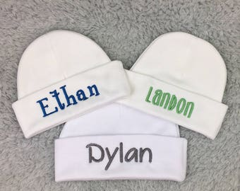 Baby boy hat personalized micro preemie hat, preemie hat, newborn hat - baby shower gift, newborn photography, preemie clothes, NICU gift