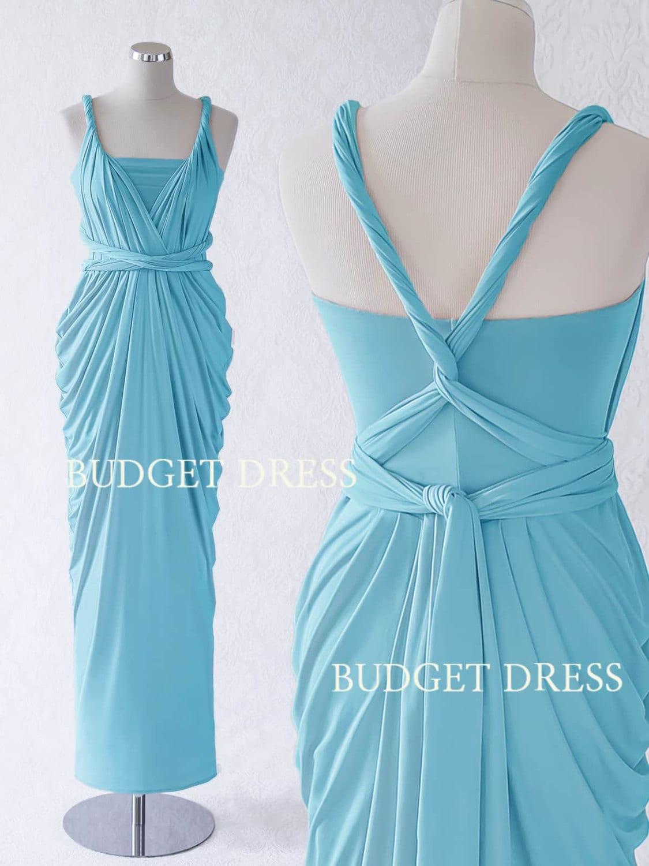 Sky Blue Multiway Bridesmaids Dresses Infinity Greek Prom
