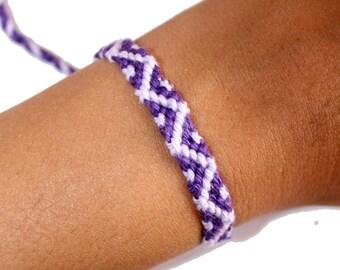 "Friendship Bracelet model ""Oceania"", unisex, purple and light purple"