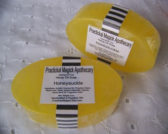 Practickal Magick Apothecary Handcrafted Hemp Oil Soap -Detergent Free- Choose Your Scent