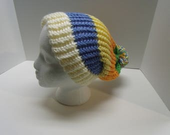 Adult Hat Slouch Hat Striped Hat Winter Hat Teen Hat Knitted Slouch Hat Knitted Hat Slouchy Hat