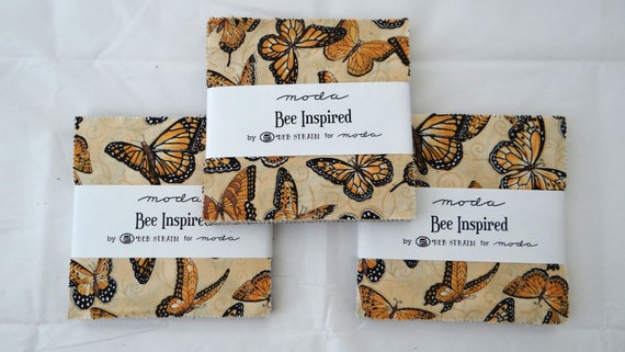 Bienen inspiriert Moda 3 Charm Packungen Stoff Deb Belastung Nähen ...